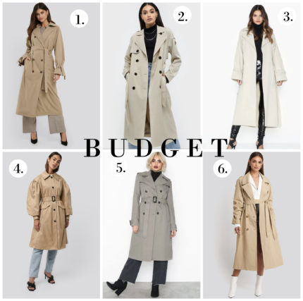 TRENCHCOATS ON BUDGET
